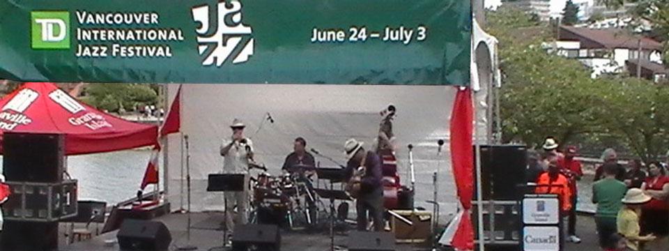 Scott Robertson Swing Patrol band at the TD Vancouver International Jazz Festival